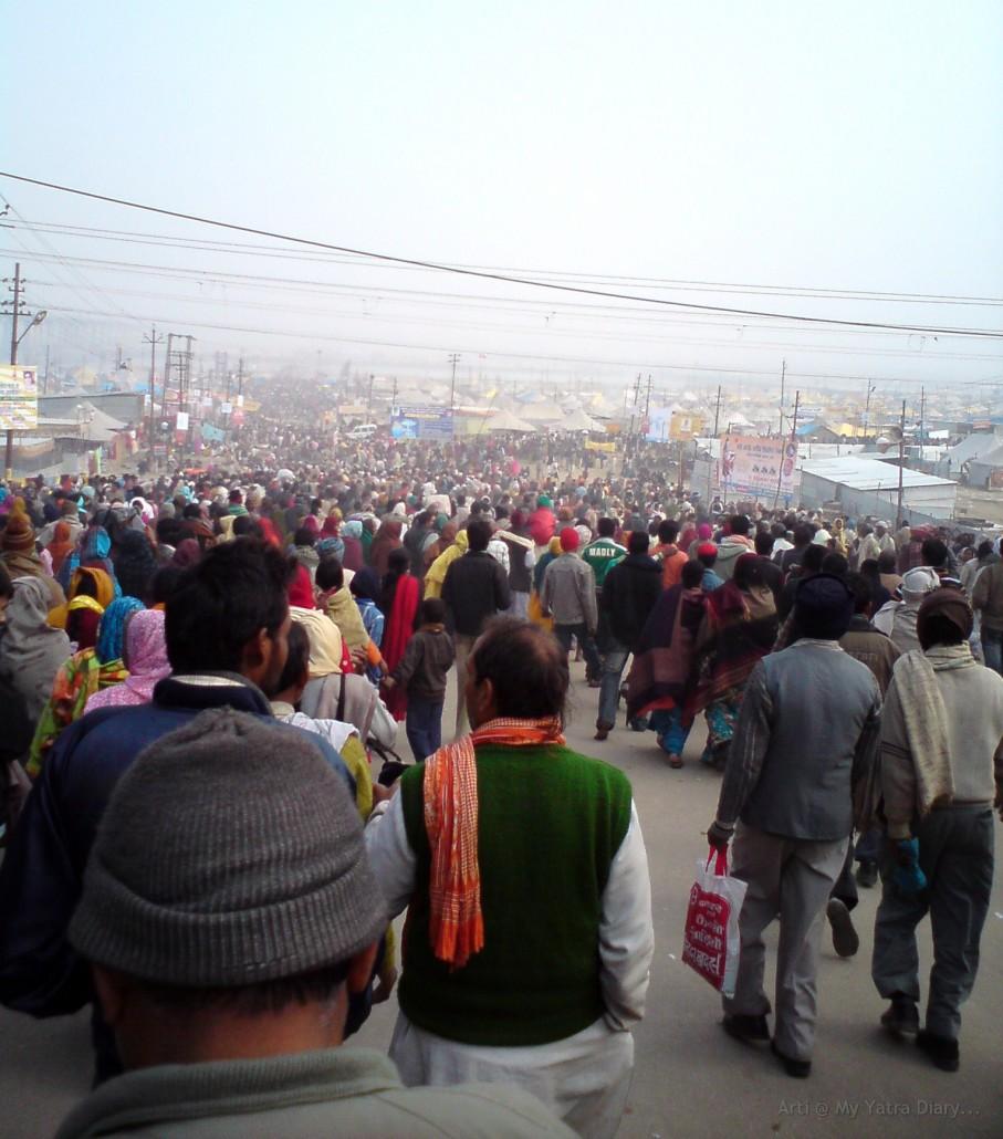 The sea of people at Magh Mela, Allahabad