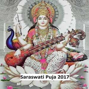 Dates of Saraswati Puja 2017