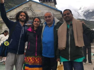 Ashok Family from USA at Kedarnath