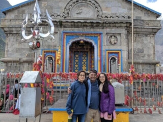 Raghu from USA at Kedarnath