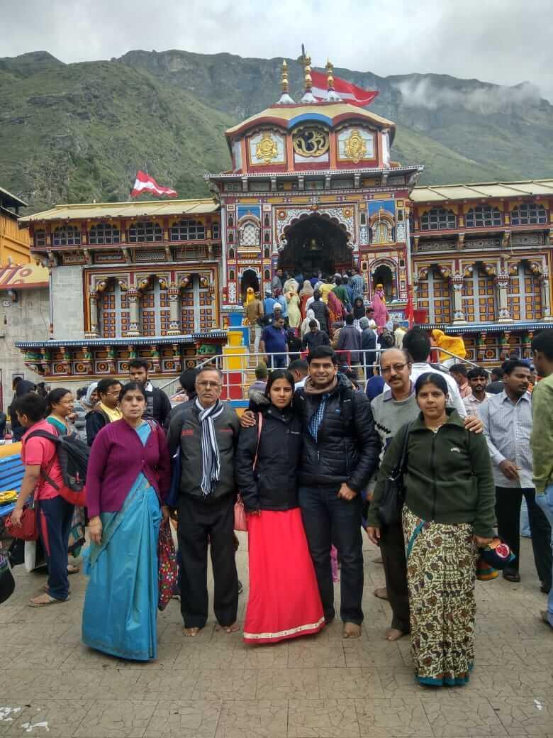 Abhinandan Family at Badrinath