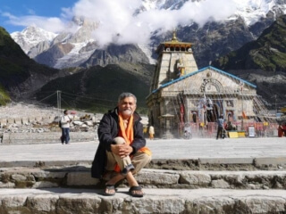 Sukumar from Canada at Kedarnath