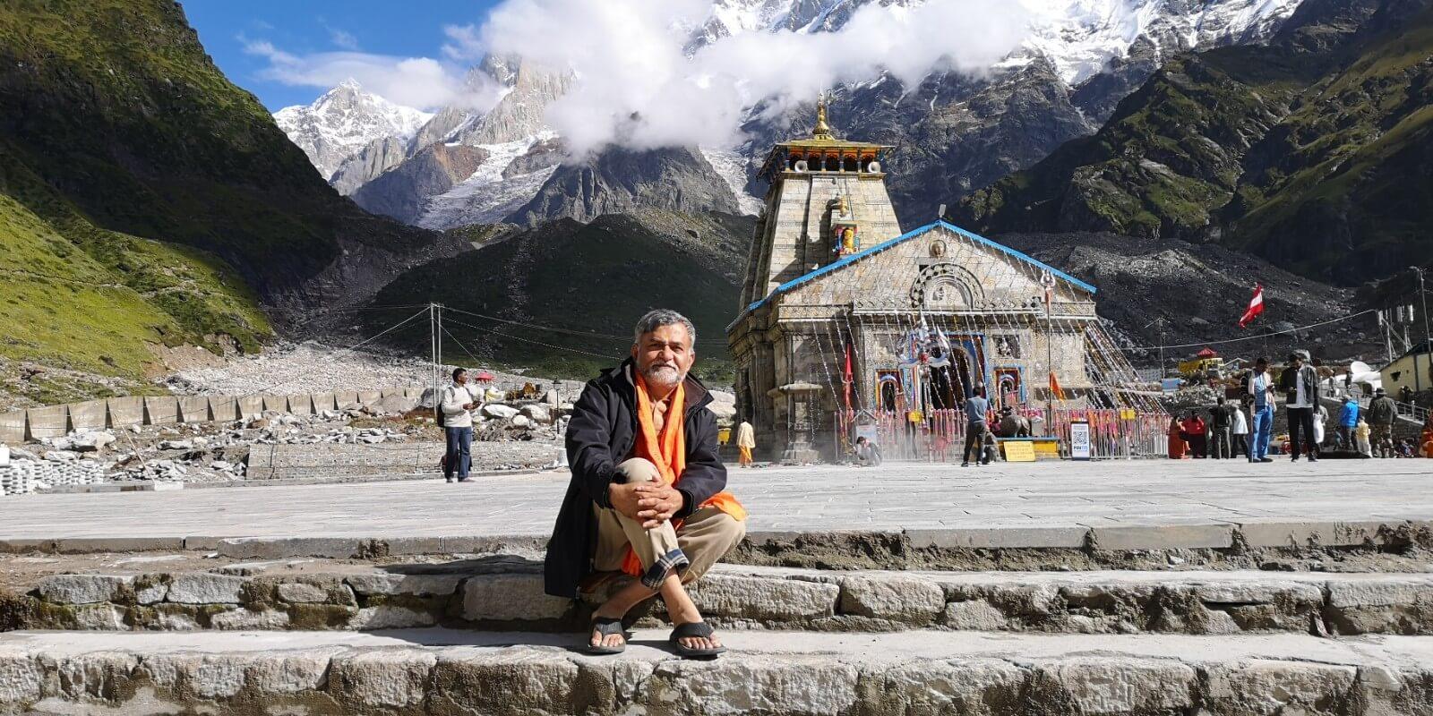 Sukumar from Canada at Kedarnath